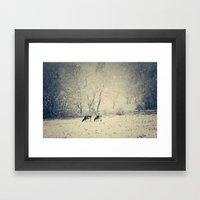 Blizzard meadow Framed Art Print