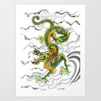 Japanese Dragon Tattoo Art Print