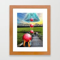 Interspatial Field Framed Art Print