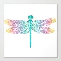 dragonfly v1 Canvas Print