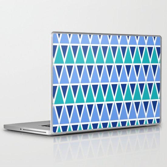 Tribal Pattern - Blue Laptop & iPad Skin