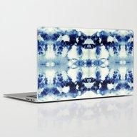 Laptop & iPad Skin featuring Tie Dye Blues by Nina May Designs