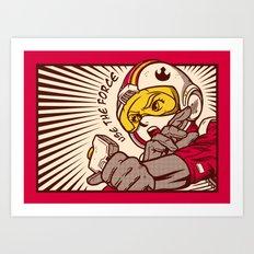 Go, Red Five, Go! Art Print