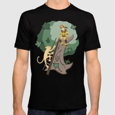 Stuck in a Tree Mens Fitted Tee Black SMALL
