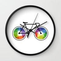 Geometric Bicycle Wall Clock