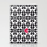Skullz And Lace Stationery Cards