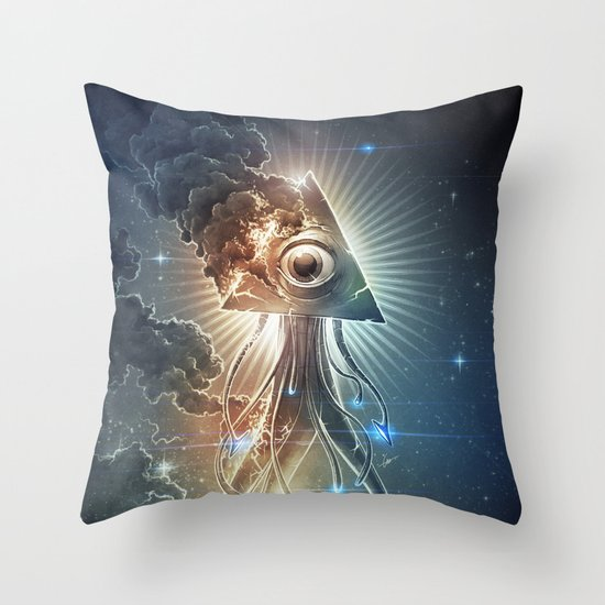 War Of The Worlds II. Throw Pillow