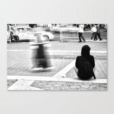 New York City Skaters #2 Canvas Print