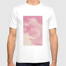 LOUVE FLORALE Mens Fitted Tee SMALL White