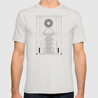 cirquit blank Mens Fitted Tee Silver SMALL