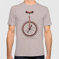 Unicycle Mens Fitted Tee Cinder SMALL
