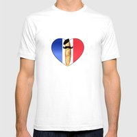 Monsieur Baguette Mens Fitted Tee White SMALL
