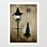 Victorian Lamp post Art Print