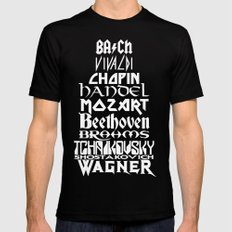 Composers Mens Fitted Tee SMALL Black