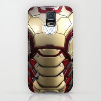 Galaxy S5 Cases featuring iron/man mark XLII restyled for samsung s4 by Emiliano Morciano (Ateyo)