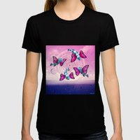 Flight Of The Butterfly … Womens Fitted Tee Black SMALL