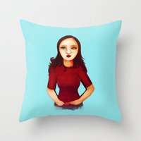 Here comes trouble Throw Pillow