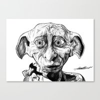 Canvas Print featuring Free Elf by DeMoose_Art
