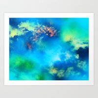 Cosmic Clouds In Blue Art Print