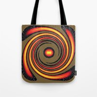 Spiral Fire in abstract Tote Bag