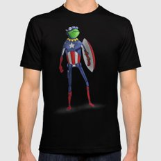 Captain Kermit SMALL Mens Fitted Tee Black