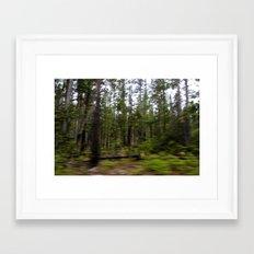 Motion Blurred Forest Framed Art Print