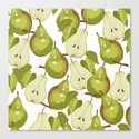 Pears Pattern Canvas Print