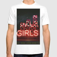 girls night ;) SMALL White Mens Fitted Tee
