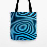 Stripes In Blue Tote Bag