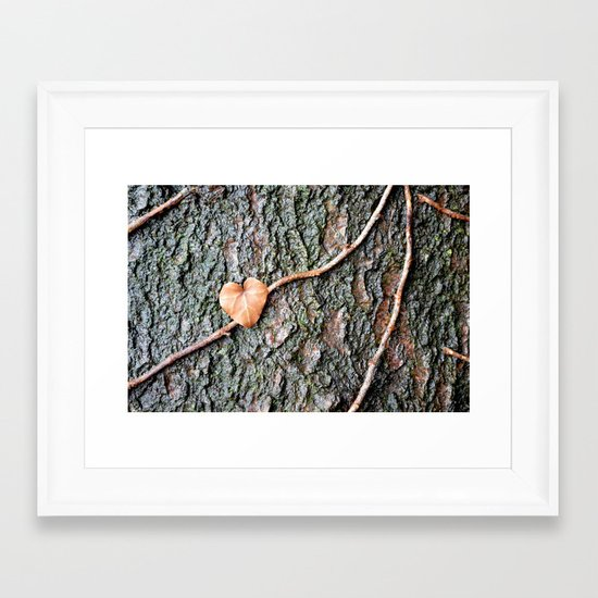 Heart and tree Framed Art Print