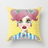 Sticky and Sweet Throw Pillow