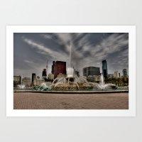 Buckingham Fountain Art Print