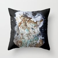 Excerpt / Curacao Coffee on Canvas Throw Pillow