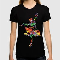 Ballerina Womens Fitted Tee Black SMALL