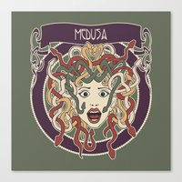 foolish medusa (green) Canvas Print