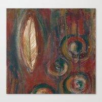 Zen Feather Canvas Print