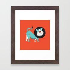 Evan The Lion Framed Art Print