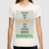 Something Wonderful Womens Fitted Tee Natural SMALL
