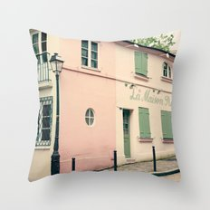 Montmatre, cute Paris Throw Pillow