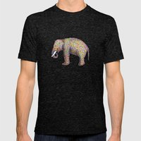 Elephant Color Mens Fitted Tee Tri-Black SMALL