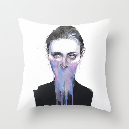 my opinion about you Throw Pillow
