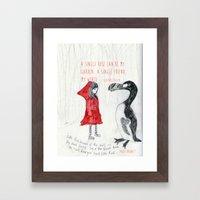 A Single Friend Framed Art Print