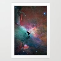 Nebulous Surfing Art Print
