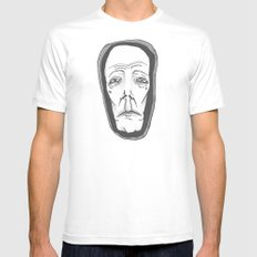 MS13 White SMALL Mens Fitted Tee