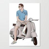 Vespa Lover Canvas Print