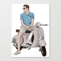 Vespa Lover Canvas Print