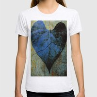 Blue Heart Womens Fitted Tee Ash Grey SMALL