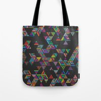 Rainbow Night Rain Tote Bag