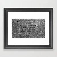 Petrolithic B&W Framed Art Print