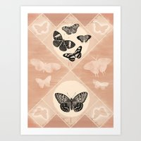 Fluttering In The Moonli… Art Print